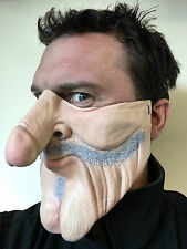 Funny Half Face Mask Old Man Dick Nose Willy Face Masks Grey Stag Party Costume
