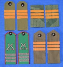 Bulgarian Army BORDER TROOPS Sergeant NCO Chevrons Uniform SHOULDER BOARDS