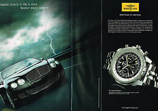PUBLICITE ADVERTISING 015  2009  BREITLING collection montre BENTLEY MOTORS  (2p
