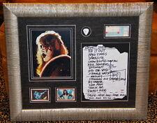 KISS Ace Frehley signed original SETLIST guitar pick trading card FRAMED PSA DNA