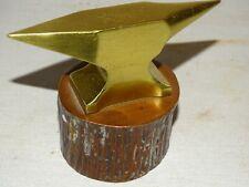 superbe enclume de bijoutier, maitrise ?? bronze doré et patiné XIXème ?