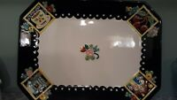 "At Home With Mary Engelbreit 2001 RARE Platter RETIRED Black, Yellow 15"" X 11"""