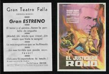Programa publicitario de CINE. Título: EL JUSTICIERO ROJO.