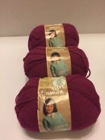 Rose Natura Yarn Sport & Baby Sayelle Yarn (3) Skeins 2oz 3Ply Acrylic Vtg