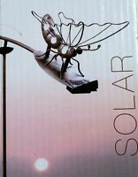 Windspiel Wippe Gartenstecker 2× Beleuchteter Solar Schmetterling  Metall