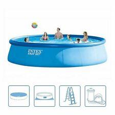 Intex 26176UK Easyset Round Swimming Pool Extra Large 5.49m x 122cm High Garden
