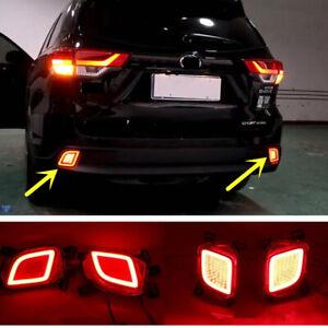 For Toyota Highlander 2015-2019 LED Rear Fog Light Tail Bumper Light Sets