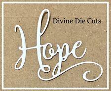 FREE POSTAGE OFFER - 6 X HOPE Scrabooking/Cardmaking DIE CUTS