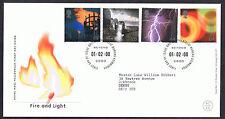 Fuego y luz 2000 primer día cubierta-SG2129 a SG2132 de Edimburgo cancelar