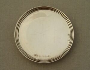 ANTIQUE VICTORIAN NATHANIEL MILLS SOLID SILVER TRAVELLING COMMUNION PATEN 1850