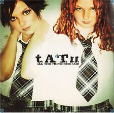 TATU ALL THE THINGS SHE SAID CD SINGLE card sleeve