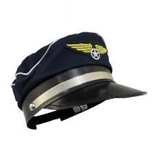 Señoras Para Hombre Adulto piloto ocupación uniforme Fiesta De Disfraces Disfraz Sombrero Gorra