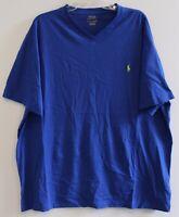 Polo Ralph Lauren Big and Tall Mens Blue V-Neck T-Shirt NWT Size 4XB