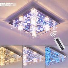 Design Fernbedienung LED Decken Lampen Glas Flur Wohn Schlaf Zimmer Leuchten
