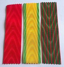 Lot de 3 rubans NEUFS pour Légion d'honneur, Médaille militaire et CDG 14 / 18.