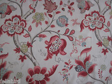 SANDERSON CURTAIN FABRIC Roslyn 3.8 METRES BERRY AND SLATE 100% LINEN VINTAGE CO