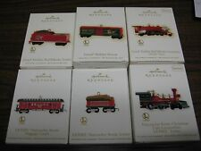 2009 and 2012 HALLMARK KEEPSAKE ORNAMENTS  LIONEL lot of 6