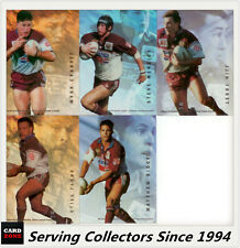 1996 Dynamic Rugby League Signature Gold ACETATE CARD TEAM SET--Manly (5)