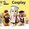 Pet Cat Dog Nurse Cosplay Clothes Halloween Puppy Costume Funny Coat Party Dress