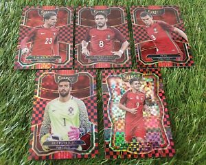 5x Panini Select Soccer 17/18 Checkerboard Cards Team Lot Set Portugal