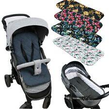 BABYLUX Matratze für Kinderwagen Babywanne Buggy Sitzauflage Auflage Doppelseiti