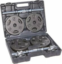 BRAND NEW 40 Lb CAP Total Adjustable Cast Iron Dumbbell Weight Set