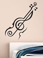 Abstract Violin Removable Decal Art Mural Wall Sticker Home Room DIY Decor