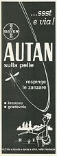 W5187 Autan - Bayer - Pubblicità 1972 - Advertising