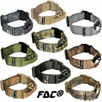 Tactical Dog Collar Heavy Duty Working Training With Handle Plastic Buckle Width