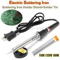 60W hierro soldador desoldador eléctrico Soldadura + soporte estaño de soldadura
