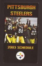 2003 Pittsburgh Steelers Schedule--Burress/Ward/Randle El