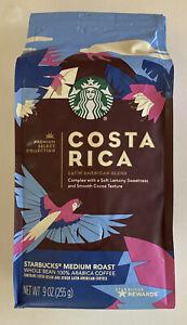 Starbucks Costa Rica Medium Roast Whole Bean Coffee, 9oz, 1 BAG, 05/2020
