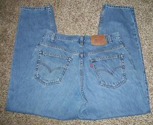 Levi's 560 Men Jeans 34 X 30 actual 100% Cotton Loose Fit  Blue  L-75