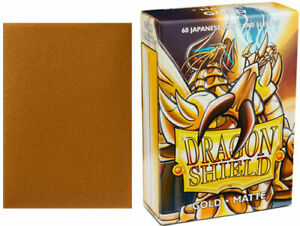 Dragon Shield Sleeves: Matte - Japanese Size - Gold (60)