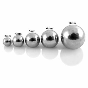 Threaded Balls 5 Spare Surgical Steel Body Piercing Barbell Parts Mix Sizes 14g