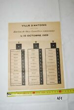AF1 Affiche - Elections - Antoing - Tournai - 1926