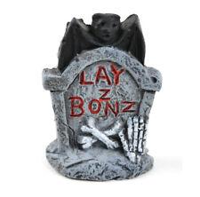 "Miniature Dollhouse Fairy Garden - ""Lazy Bones"" Bat Tombstone - Accessories"