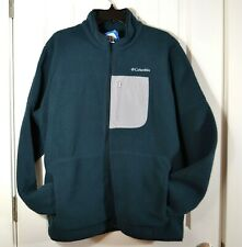 NWT MENS COLUMBIA DARK GREEN RUGGED RIDGE SHERPA FLEECE JACKET FULL ZIP SZ L