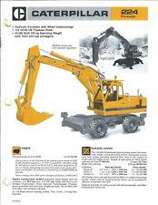 Equipment Brochure - Caterpillar - 224 - Wheel Excavator - c1984 (E4200)