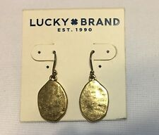 Lucky Brand Antiqued Gold Tone Drop Earrings With Natural Texture