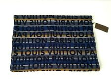 NEW Auth Louis Vuitton Monogram TAG STRIPES Wool Silk Scarf / Stole M70525 ITALY