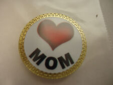 Love Mom Golf Ball Marker Gold Finish