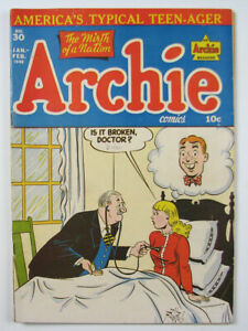 Archie Comics Golden Age Comic Book  #30  1948 America's Typical Teen-Ager