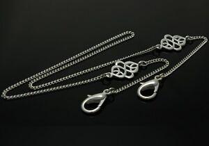 Brenda Elaine Jewelry Womens Silver Mask Lanyard/Necklace w/ Fancy Celtic Knots