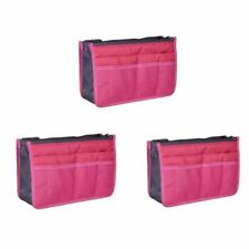 Dual Bag in a Bag Organizer (Hot Pink) Set of 3