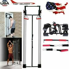 Door Resistance Bands Trainer Set Home Gym Exercise Fitness w/Straight Bar US