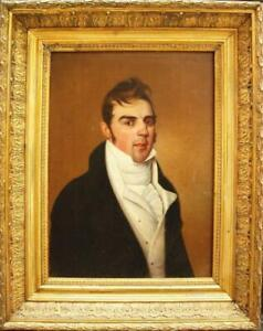 EARLY 19th Century PORTRAIT YOUNG ROGUE GENTLEMAN Antique Oil Painting