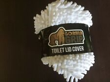 "Gorilla Grip Soft Chenille 19.5"" X 18.5"" Toilet Lid Cover 10 Yr. Warranty WHITE"