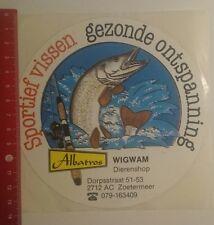Aufkleber/Sticker: Albatros Wigwam Dierenshop Sportief vissen (020117100)