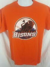 BUFFALO BISONS Minor League Baseball T-Shirt Size Medium Orange
